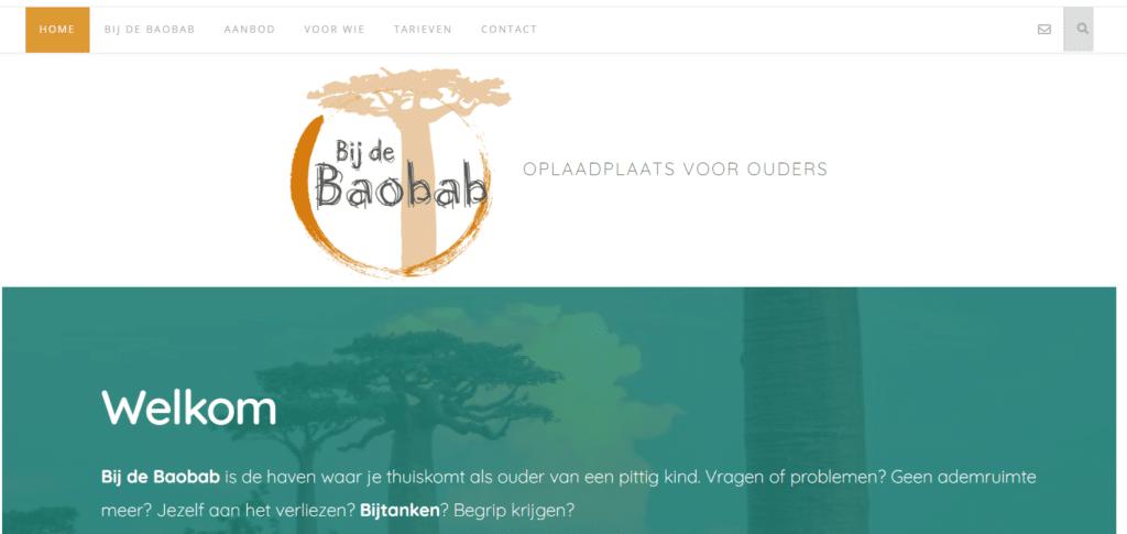 Bij De Baobab, nog een websiteproject van Copywriter Myriam Beeckman