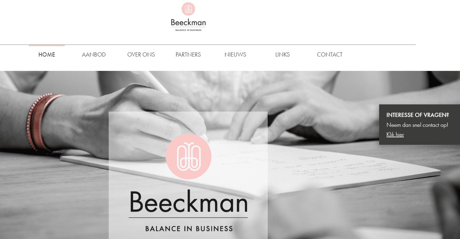 Balance in Business, nog een websiteproject van Copywriter Myriam Beeckman