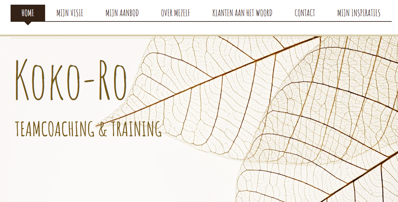 Koko-Ro, nog een websiteproject van Copywriter Myriam Beeckman