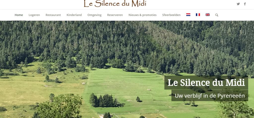 Le Silence du Midi, nog een websiteproject van SEO-copywriter Myriam Beeckman