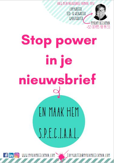 e-gids   Stop meer power in je nieuwsbrief