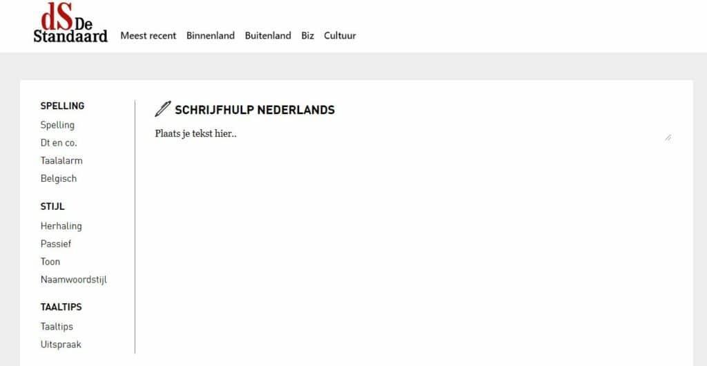 De Schrijfassistent van De Standaard en KU Leuven