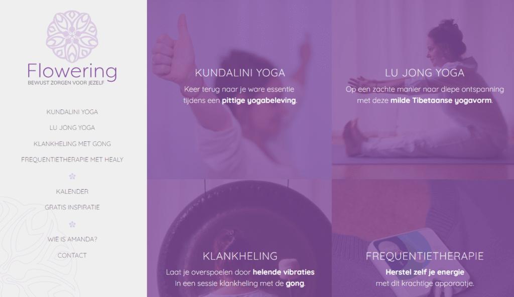 Website Flowering screenshot