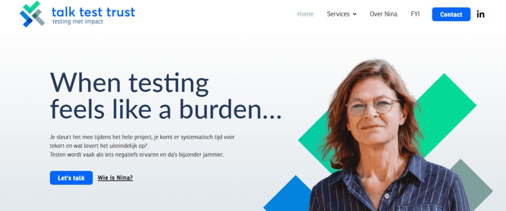 Talk Test Trust - website met impact