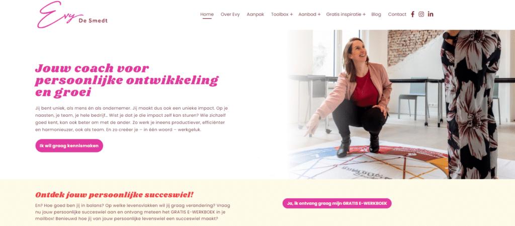 SEO-copywriting voor website Evy De Smedt